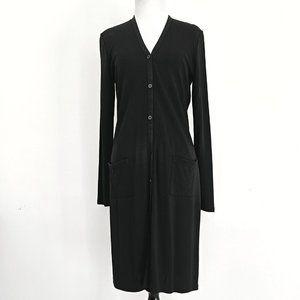 DKNY Black Lightweight Mid-length Jacket
